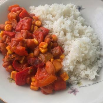 ricetta vegana fagioli sugo riso primo piatto