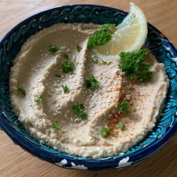 ricetta hummus al limone vegan