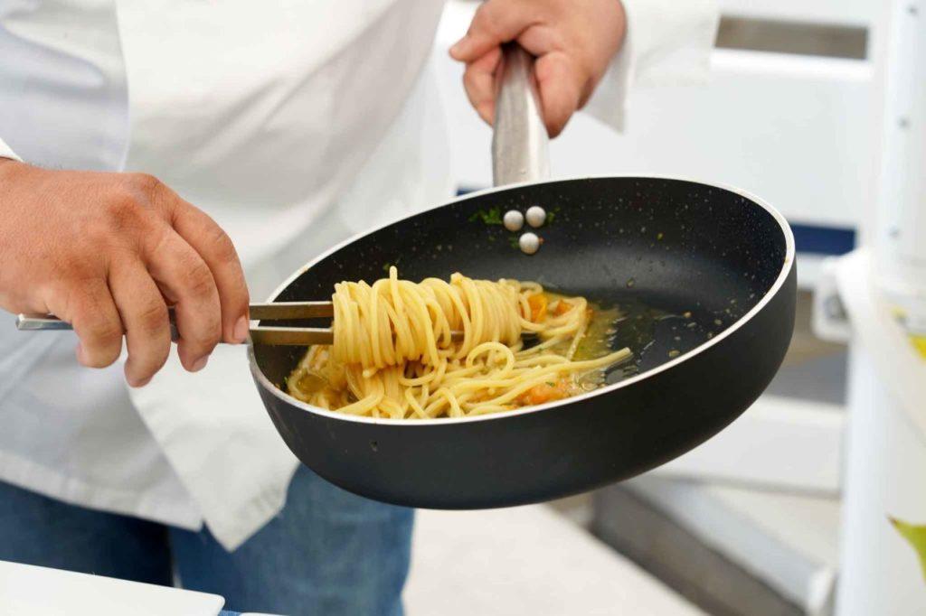 impiattamento spaghetti