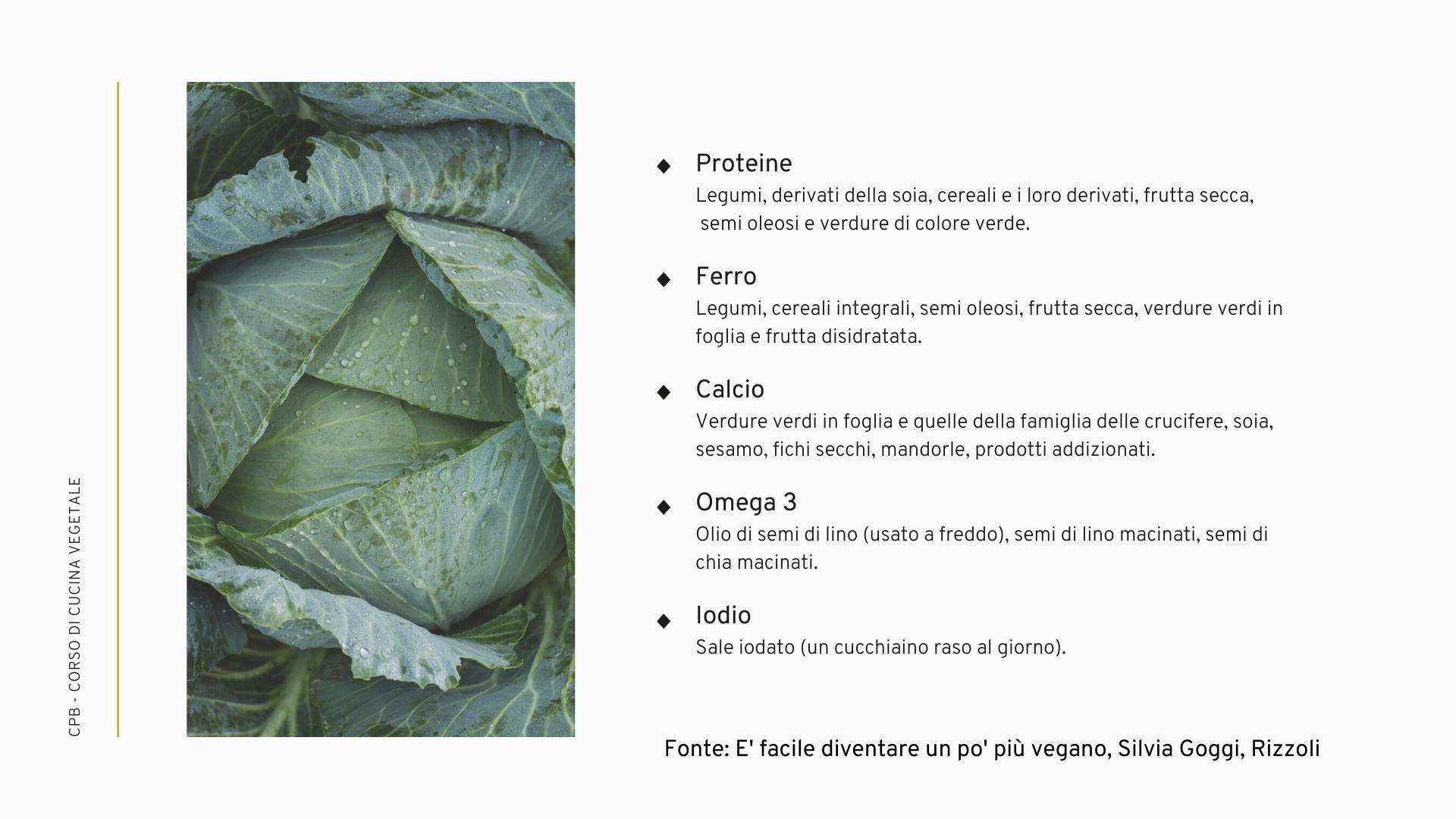 fonti nutritive nelle diete vegetariane