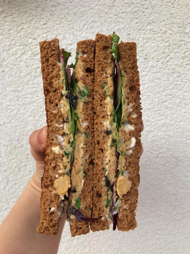 sandwich vegano ricetta